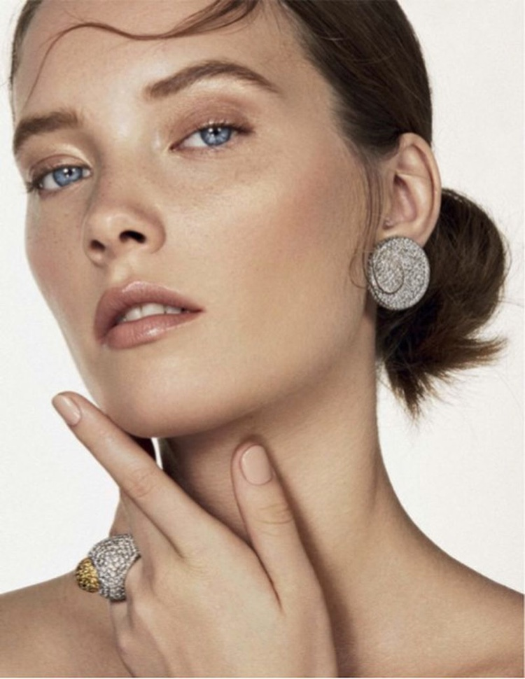 Mildred Gustafsson Sparkles in Gems for Vanity Fair Italy
