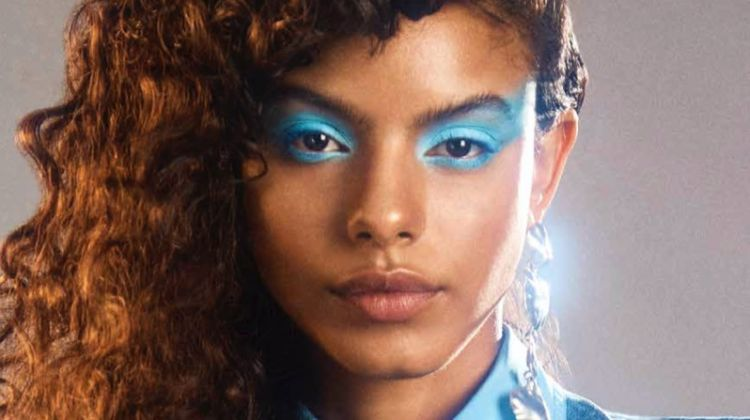 Mileshka Cortes Models 80's Beauty for Harper's Bazaar Arabia