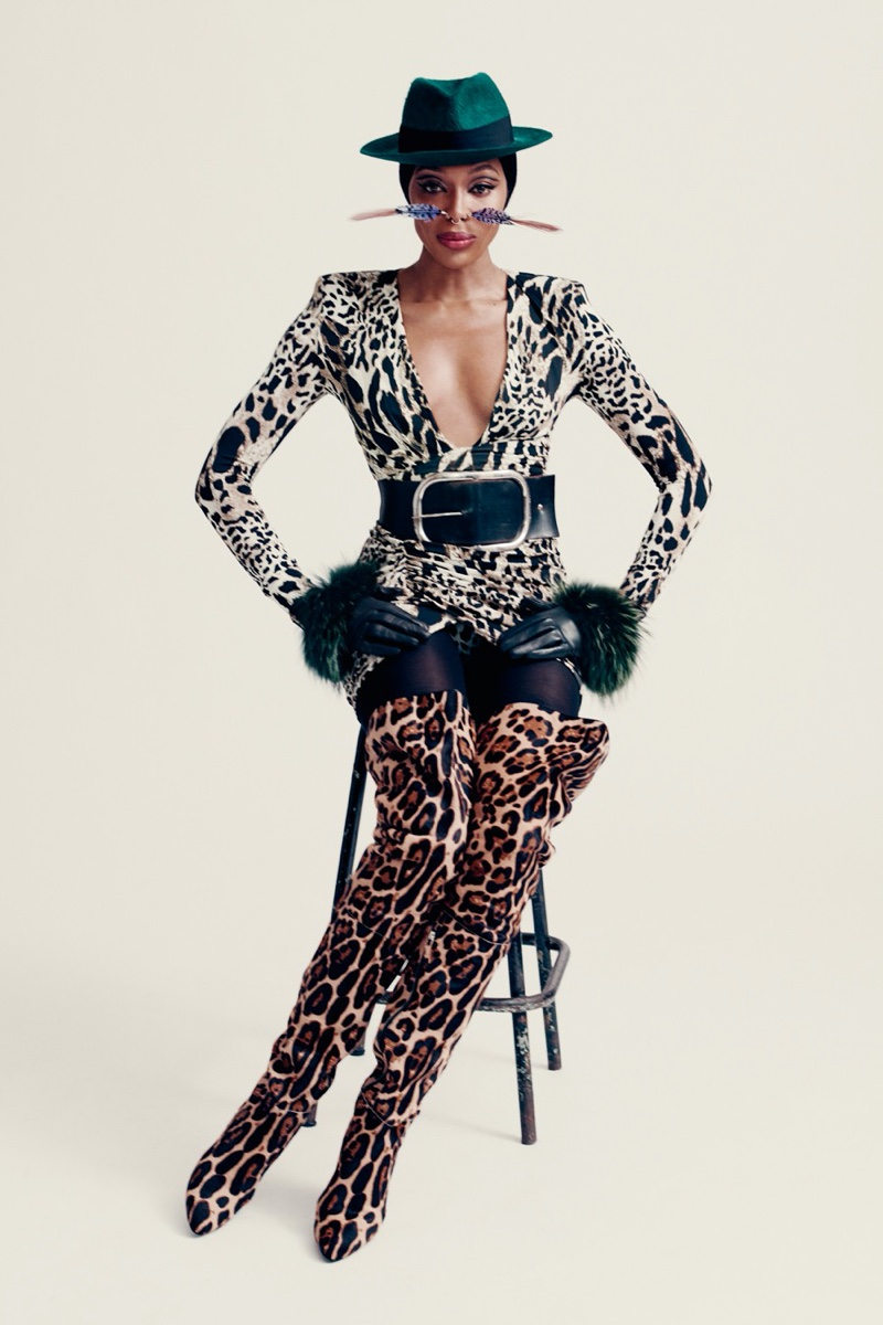 Naomi Campbell Wears Fashion Forward Outfits for i-D