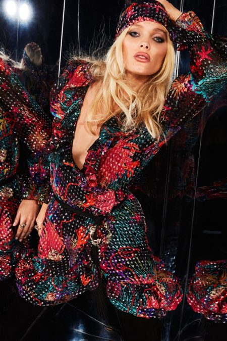 Elsa Hosk Gets Groovy in Dundas' Pre-Fall 2020 Collection