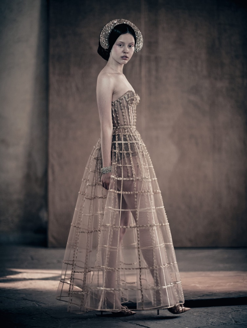 Actress Mia Goth poses for Pirelli 2020 calendar. Photo: Paolo Roversi
