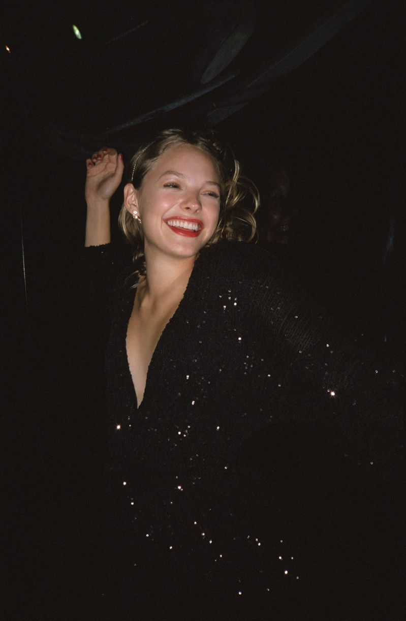 Alana Champion is all smiles in Pull & Bear Holiday 2019 party lookbook