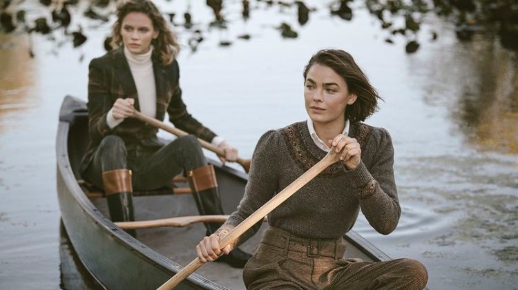 Bambi Northwood-Blyth and Faith Lynch front Ralph Lauren Holiday 2019 campaign