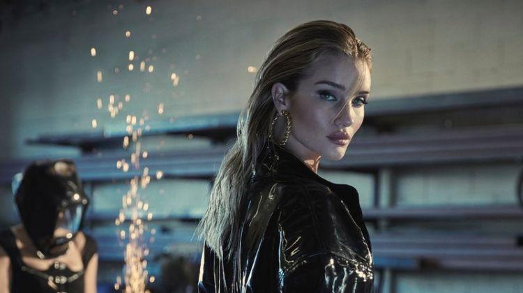 Rosie Huntington-Whiteley Models Sleek Fashions for Harper's Bazaar Greece