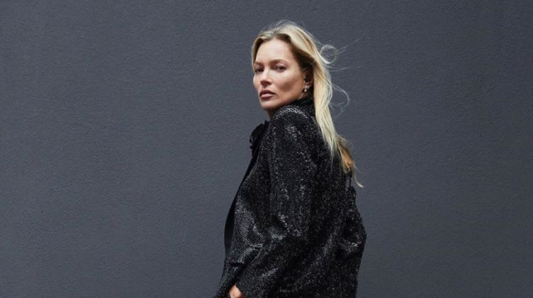 Kate Moss stars in Saint Laurent Le Smoking 2019 #YSL28 campaign