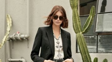 Kaia Gerber Exudes Cool in Saint Laurent Resort 2020 Collection