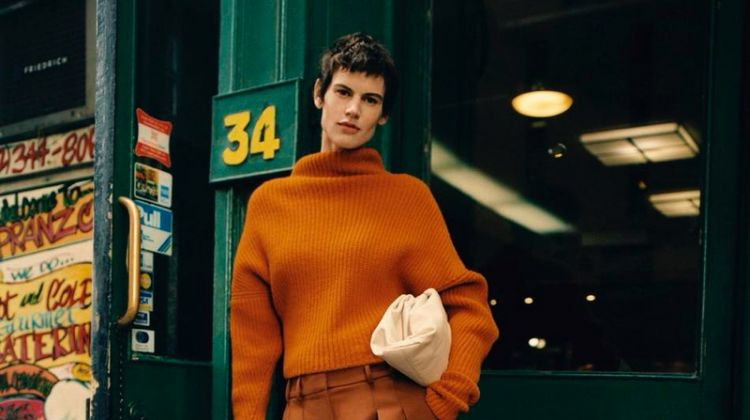 Saskia de Brauw Poses in Laid-Back Styles for PORTER Edit