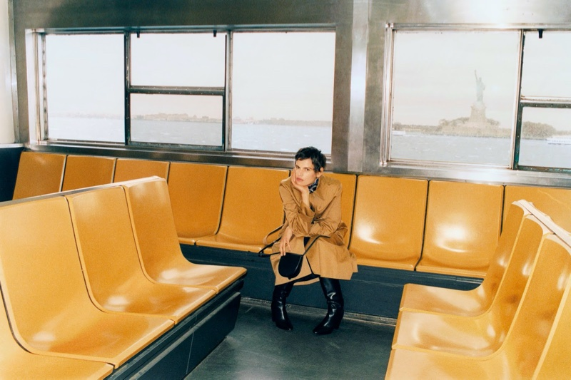 Saskia de Brauw Poses in Laid-Back Styles for PORTER Edit