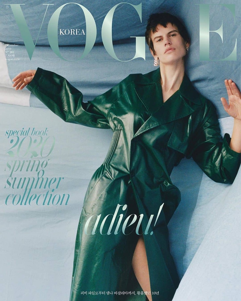 Saskia de Brauw Poses in Bold Styles for Vogue Korea