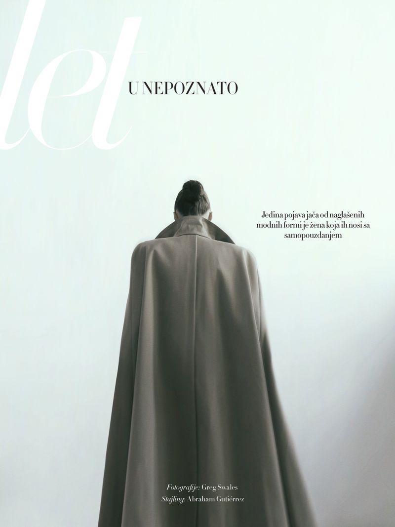 Stefania Ivanescu Wears Sleek Looks for Harper's Bazaar Serbia