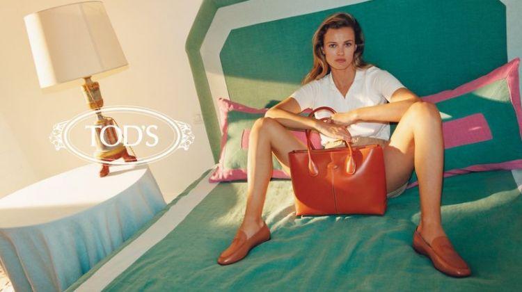 Edita Vilkeviciute stars in Tod's resort 2020 campaign