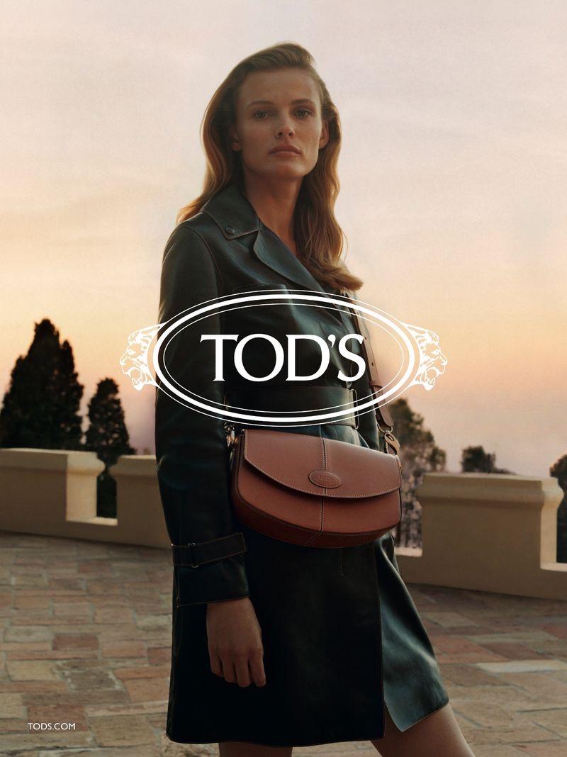 Model Edita Vilkeviciute fronts Tod's resort 2020 campaign