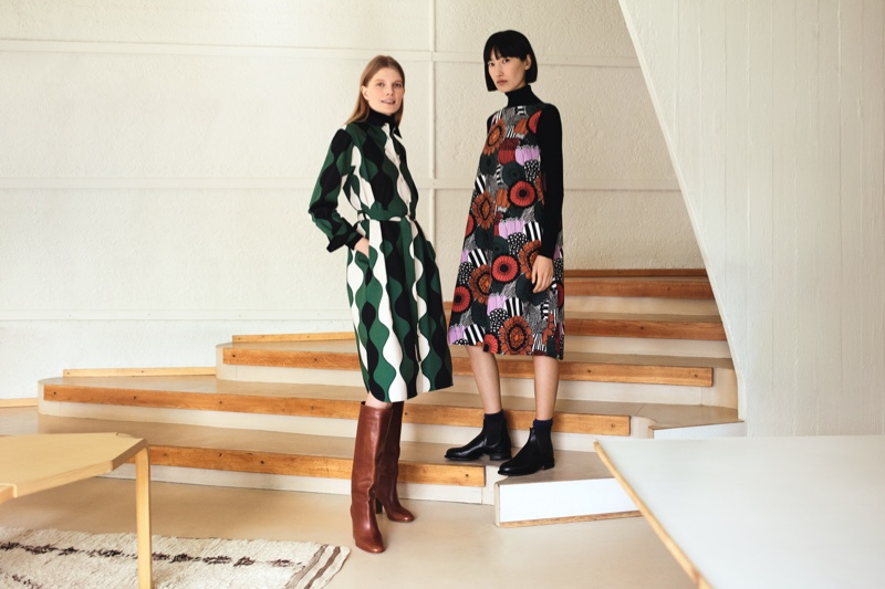 Looks from Uniqlo x Marimekko fall-winter 2019 campaign