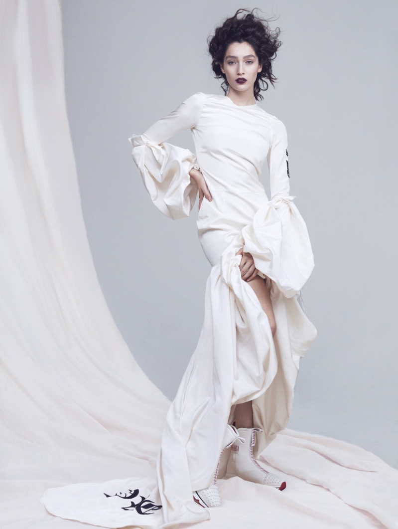 Vita Mir Models Ethereal Looks for Mojeh Magazine