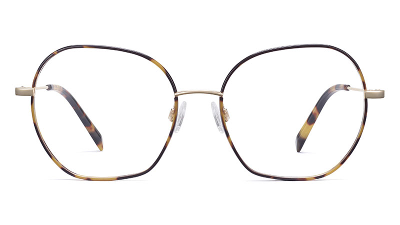 Warby Parker Alma Glasses in Tiger Tortoise with Polished Gold $145