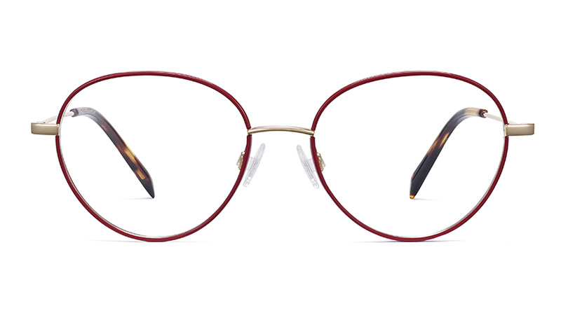 Warby Parker Arlen Glasses in Wineberry with Riesling $145