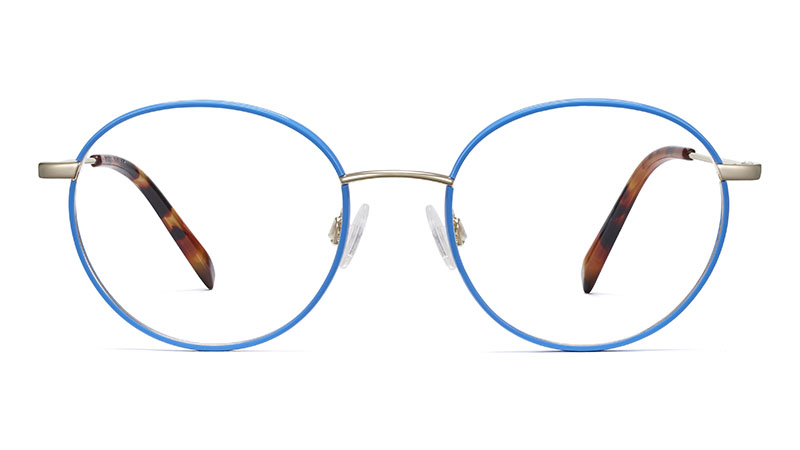 Warby Parker Duncan Glasses in Scotia Blue with Riesling $145