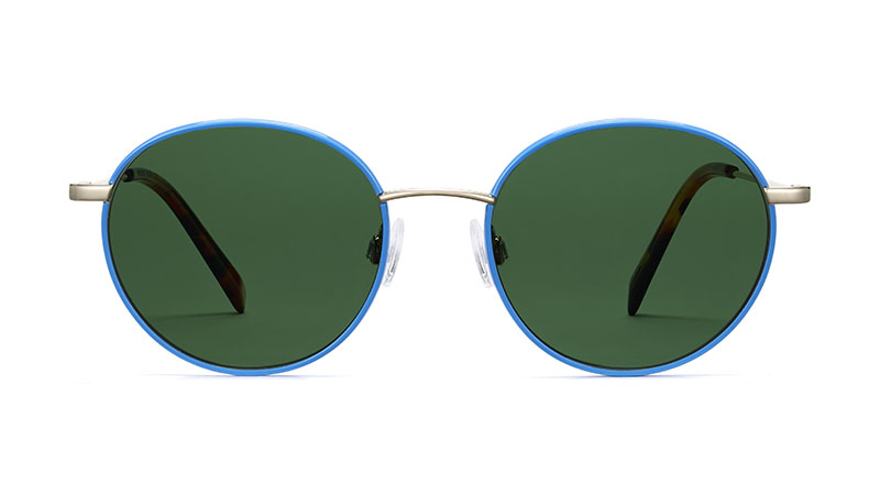 Warby Parker Duncan Sunglasses in Scotia Blue with Riesling $145