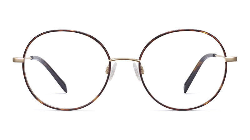 Warby Parker Nellie Glasses in Cognac Tortoise with Riesling $145