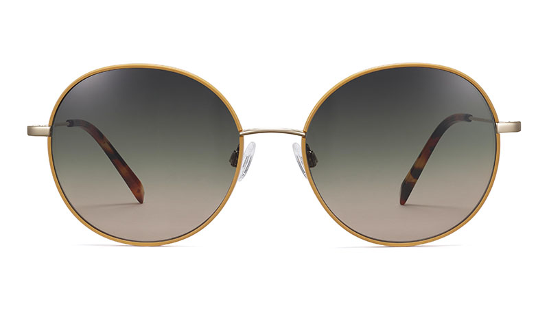 Warby Parker Nellie Sunglasses in Marigold with Polished Gold $145