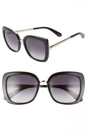 Women's Kate Spade New York Kimora 54Mm Gradient Sunglasses - Black/ Dkgrey Gradient