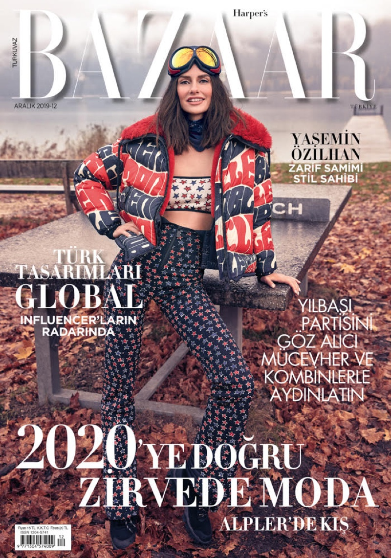 Yasemin Ozilhan on Harper's Bazaar Turkey December 2019 Cover