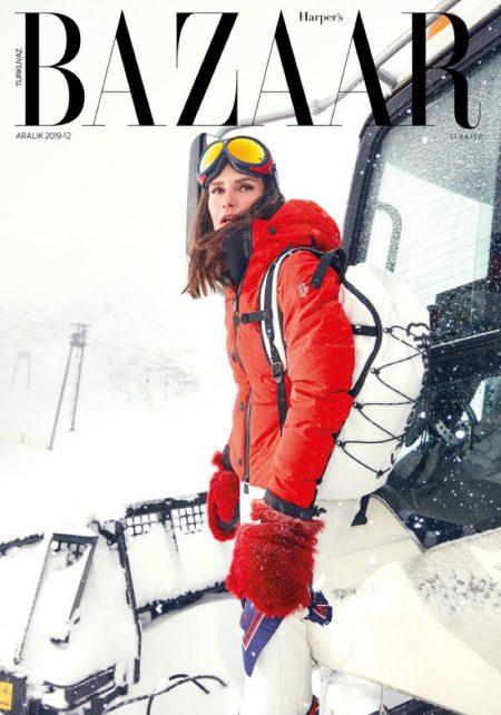 Yasemin Özilhan Hits the Slopes for Harper's Bazaar Turkey