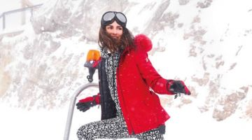 Yasemin Ozilhan embraces ski style for the photoshoot