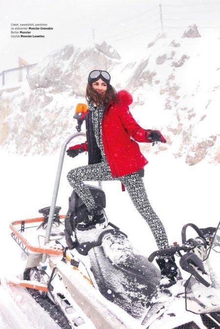 Yasemin Ozilhan embraces ski style for the photoshoot