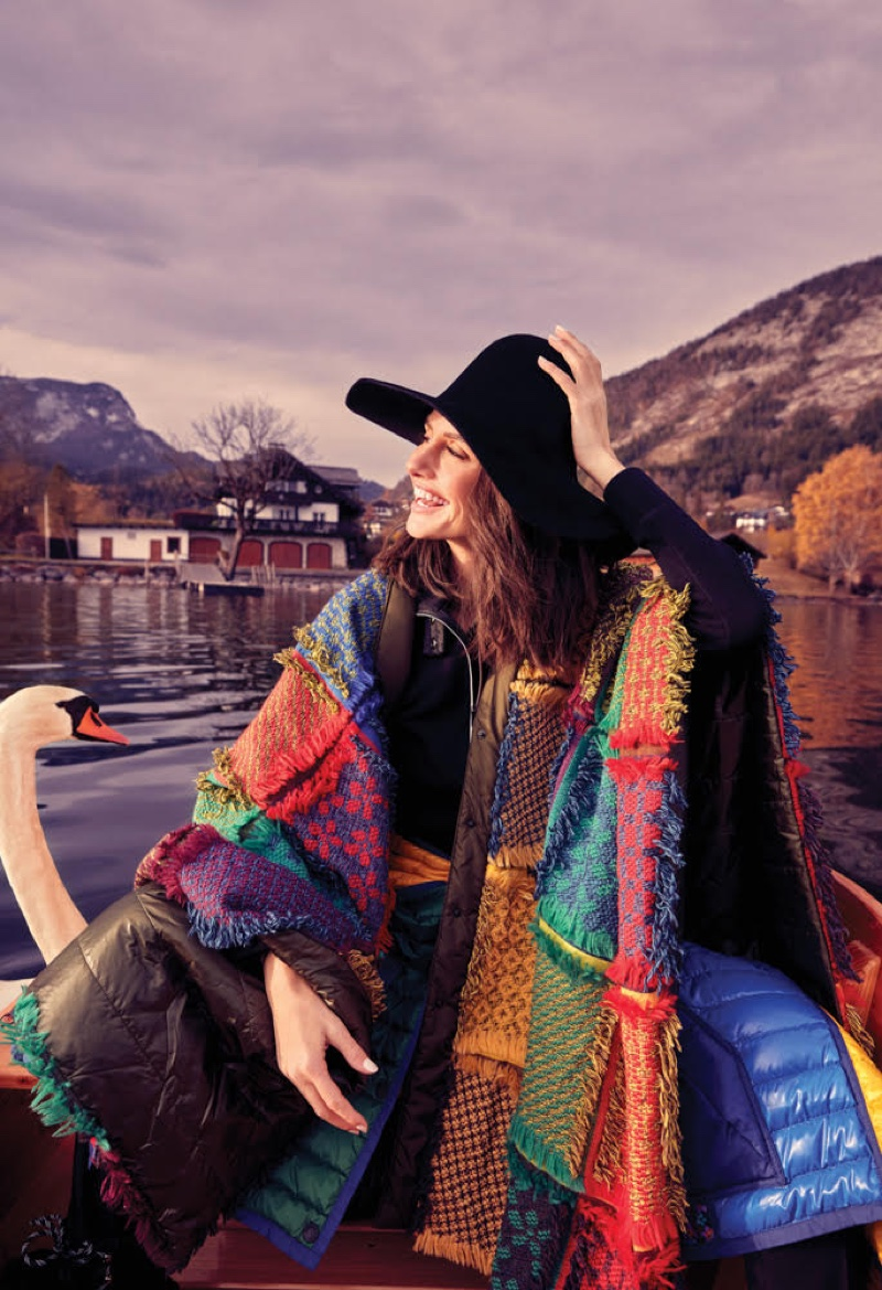 Embracing colorful prints, Yasemin Ozilhan is all smiles in Moncler