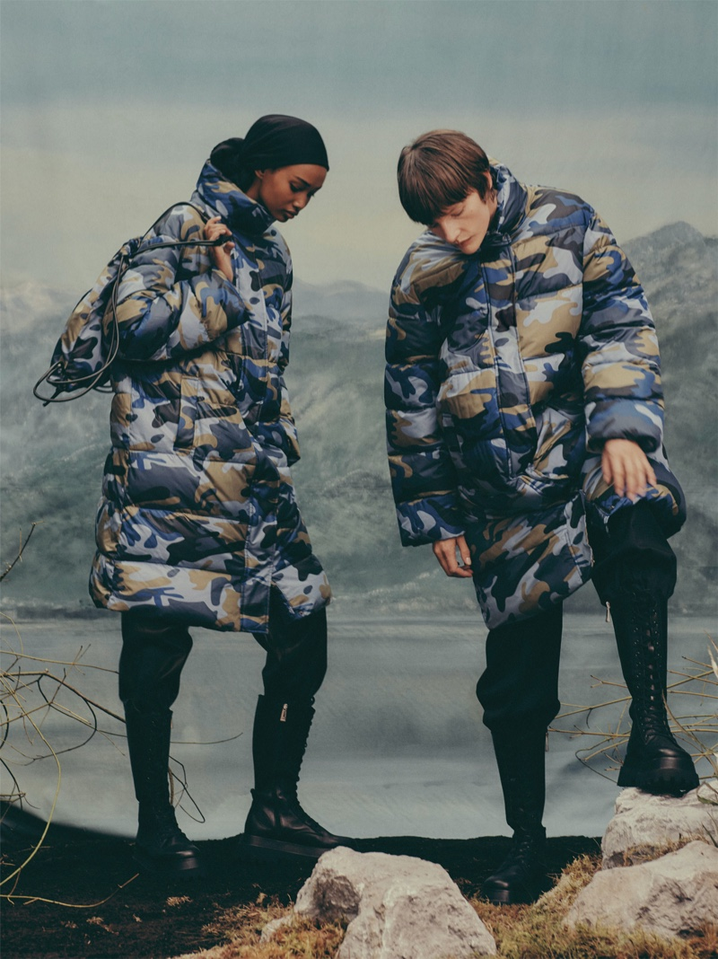 Camouflage prints stand out in Zara Join Life Upcycled Winter 2019 collection