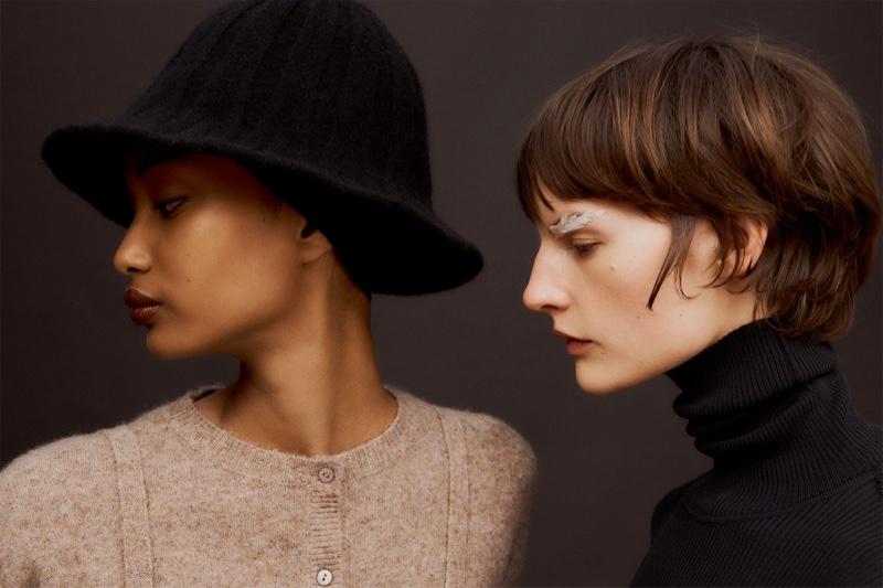 Ugbad Abdi and Sara Blomqvist star in Zara Quality Layers fall-winter 2019 editorial