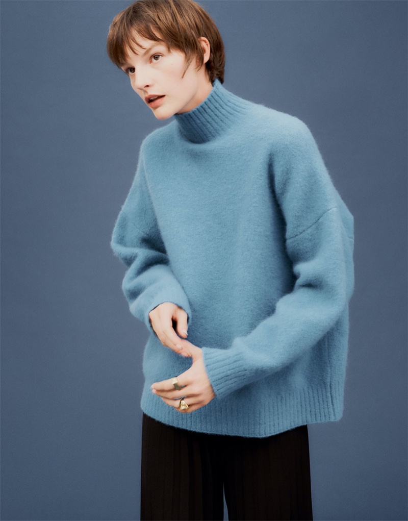 Zara Wool Blend Turtleneck Sweater and Trousers