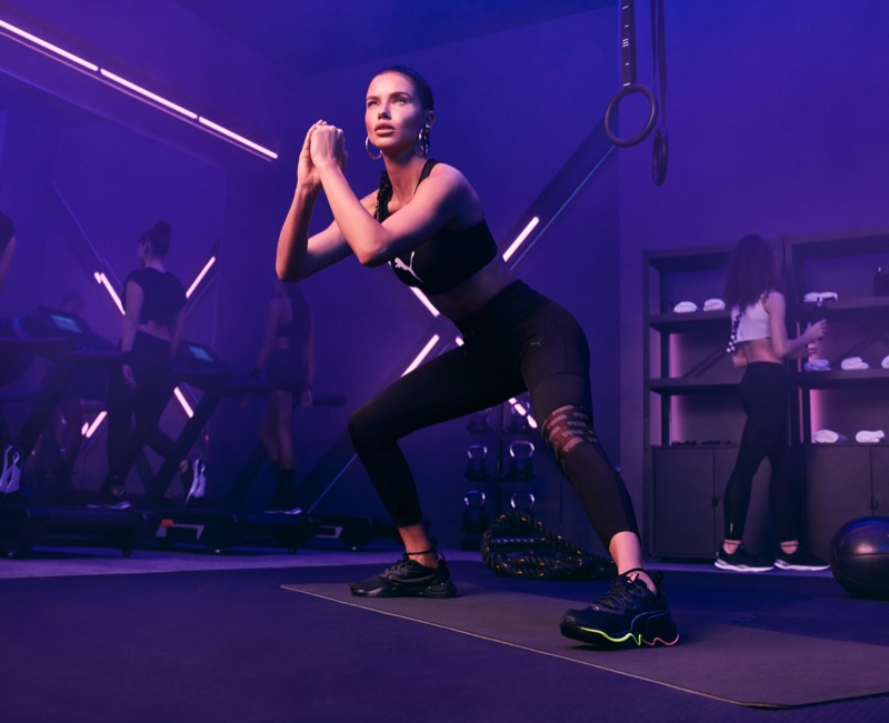 Working out, Adriana Lima models the PUMA Zone XT collection