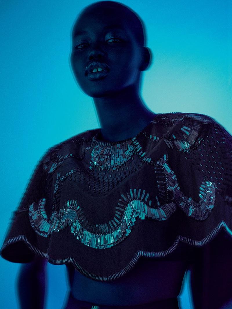 Model Adut Akech shines in Alberta Ferretti spring-summer 2020 campaign