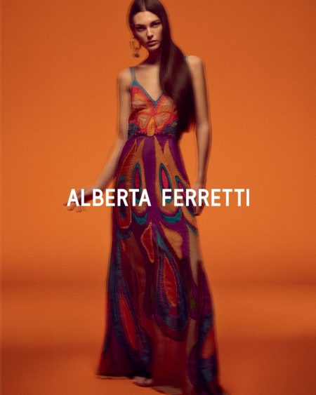 An image from Alberta Feretti's spring 2020 advertising campaign