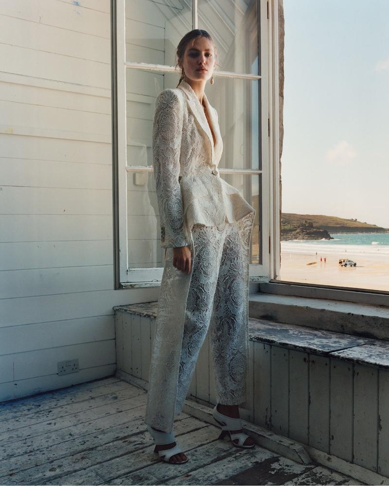 Felice Noordhoff appears in Alexander McQueen spring-summer 2020 campaign