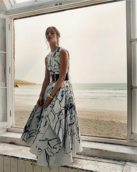 Vivien, Felice & Imaan Go Seaside in Alexander McQueen Spring 2020 Campaign
