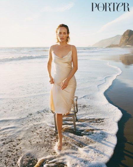 Amber Valletta Models Light & Airy Beach Looks for PORTER Edit