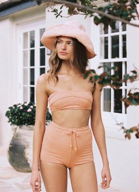 Anna Mila Guyenz Models Peony Swimwear Resort '20 Line