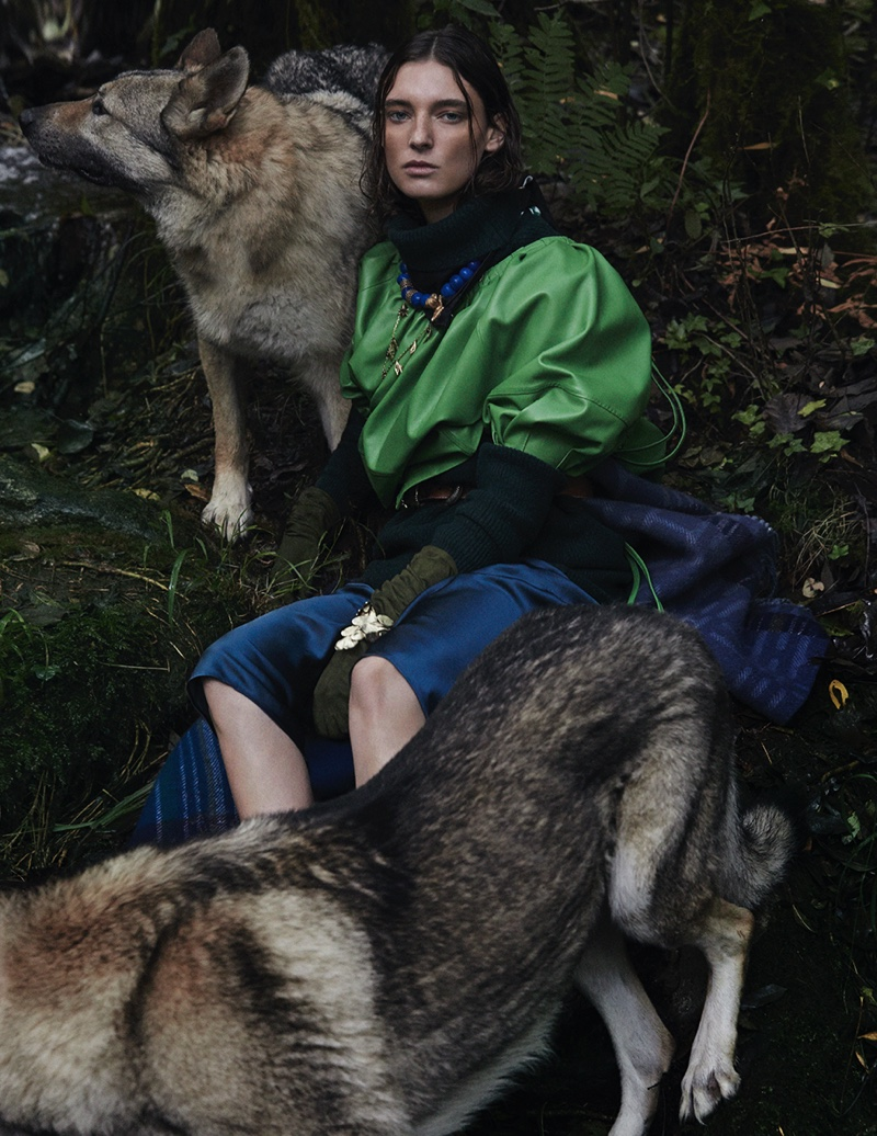 Ansley Gulielmi Goes Into the Wild for Vogue Spain