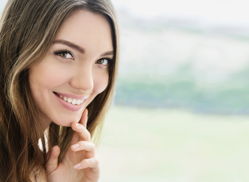 Attractive Woman Smiling Natural Beauty