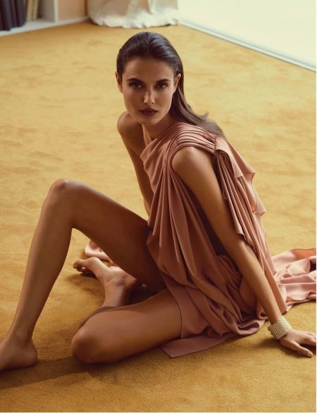 Blanca Padilla Wears Luxe Fashion for Tatler Russia