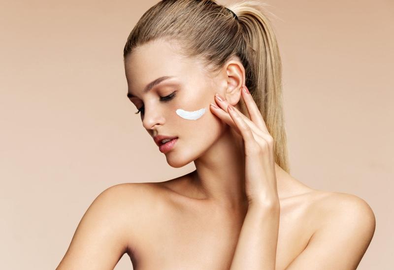 Blonde Woman Cream Face Beauty