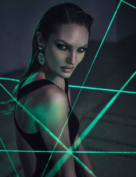 Candice Swanepoel Turns Femme Fatale for Harper's Bazaar Greece