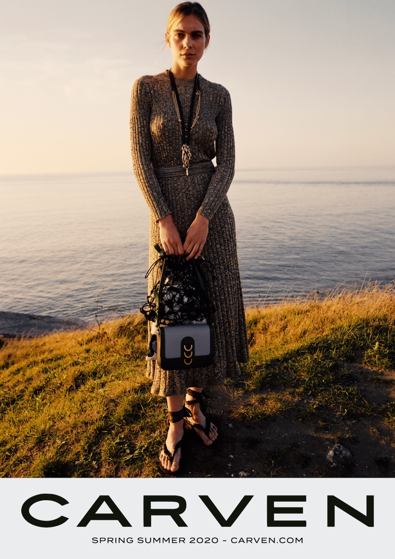 Kim Noorda stars in Carven spring-summer 2020 campaign