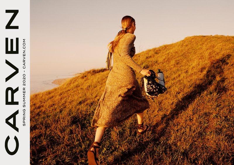 Kim Noorda appears in Carven spring-summer 2020 campaign
