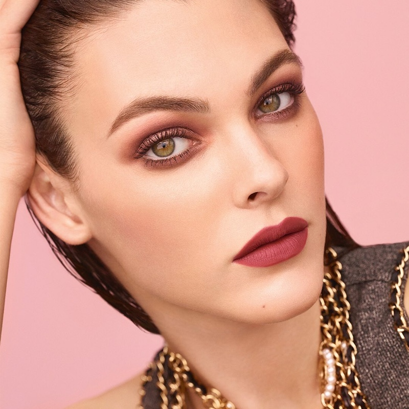 Model Vittoria Ceretti wears muted lipstick in Chanel Beauty spring-summer 2020 campaign