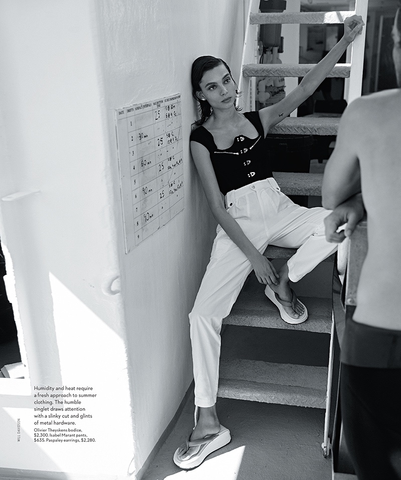 Charlee Fraser Takes On Seafaring Styles for Vogue Australia