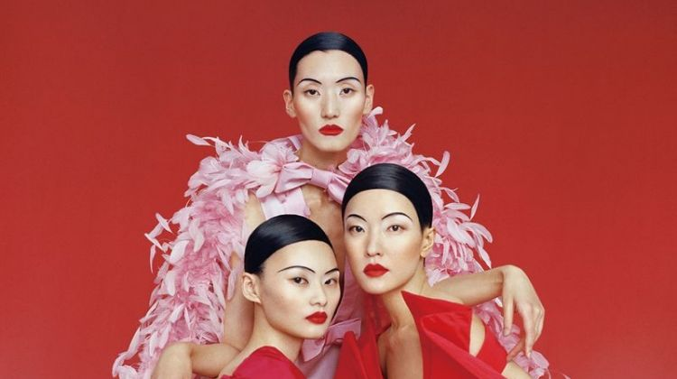 Du Juan, He Cong, Lina Zhang Pose in Stunning Gowns for Vogue China